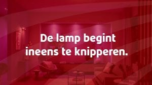 Lamp knipperen domotica